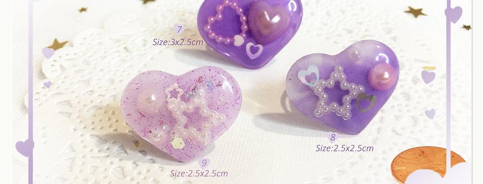 Valentine's Heartful Rings-Sweet Lolita/Fairykei/Kawaii Fashion