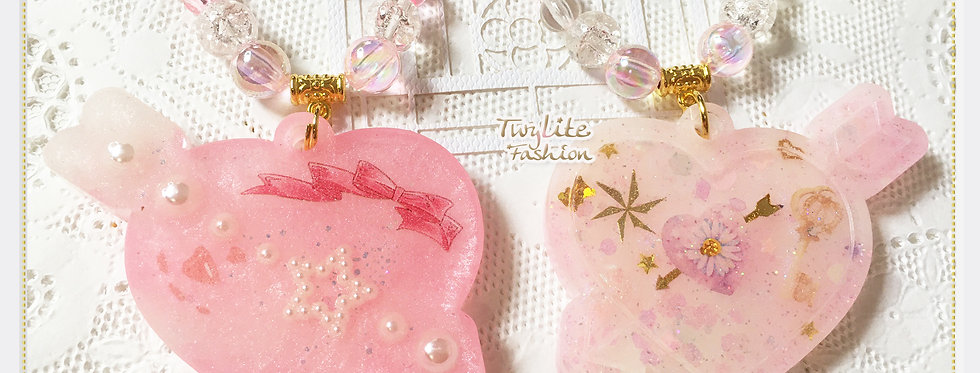 Arrow Through the Heart Necklace-Valentines Collection - Sweet Lolita Fashion