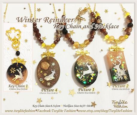 Winter Reindeer Necklace