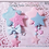 Thumbnail: Fuzzy Twin Star Dangle Hair clips