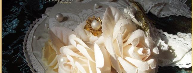 Cream Floral Hat