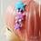 Thumbnail: Pastel Fuzzy Shooting Star Dangle Hair clips