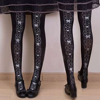 Lace Ribbon Tights
