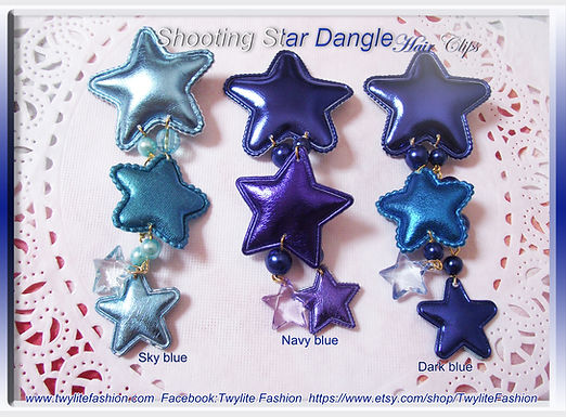 Shooting Star Dangle Hair clips