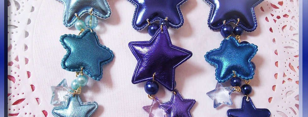 Shooting Star Dangle Hair clips