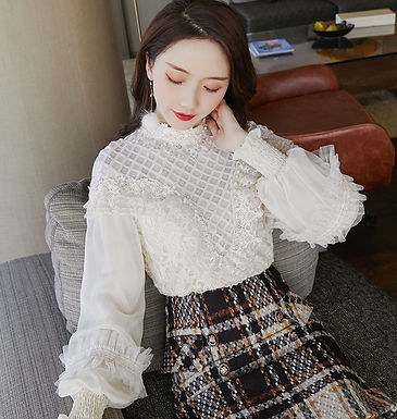 French Refined Lace Blouse