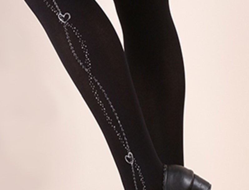 Silver Heart Chain Tights