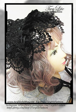 Classic/Gothic Lolita Floral Lace Headdress