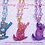 Thumbnail: Sparkling Star Climbing Cat Necklace