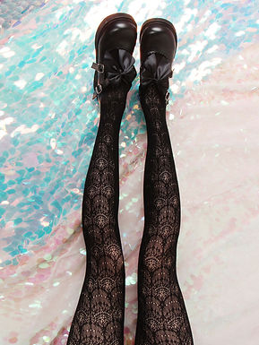 Lace Patterned Tights