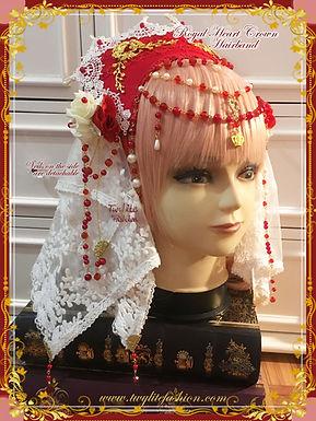 Royal Heart Crown Hairband-Lolita Fashion