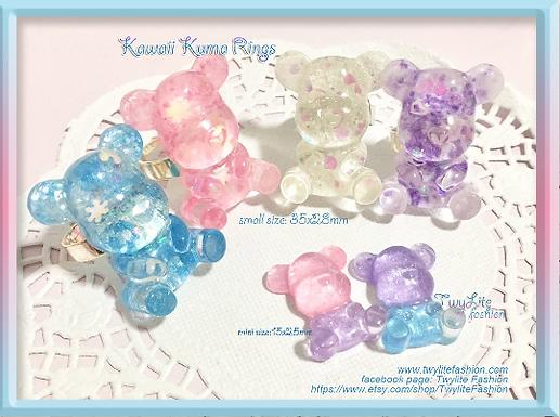 Kawaii Kuma Rings