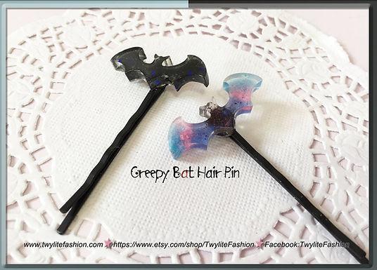 Creepy Bat Hair Pin