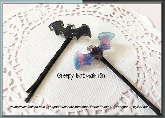 Creepy Bat Hair Pin