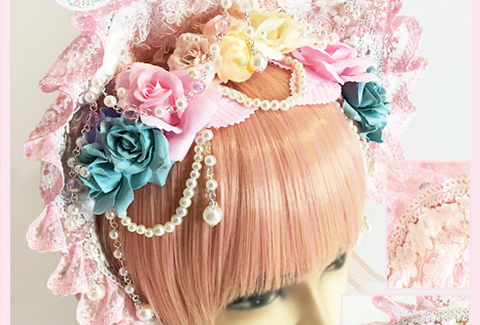 Graceful Royal Flower Bonnet