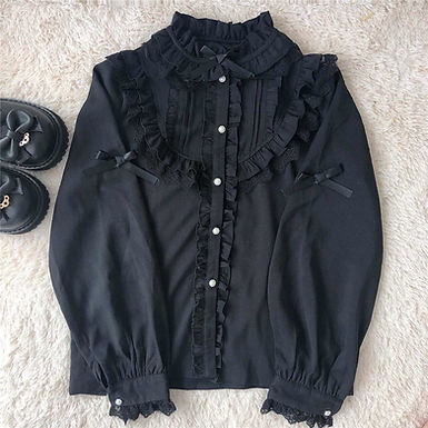 Frilly Bell Sleeve Blouse