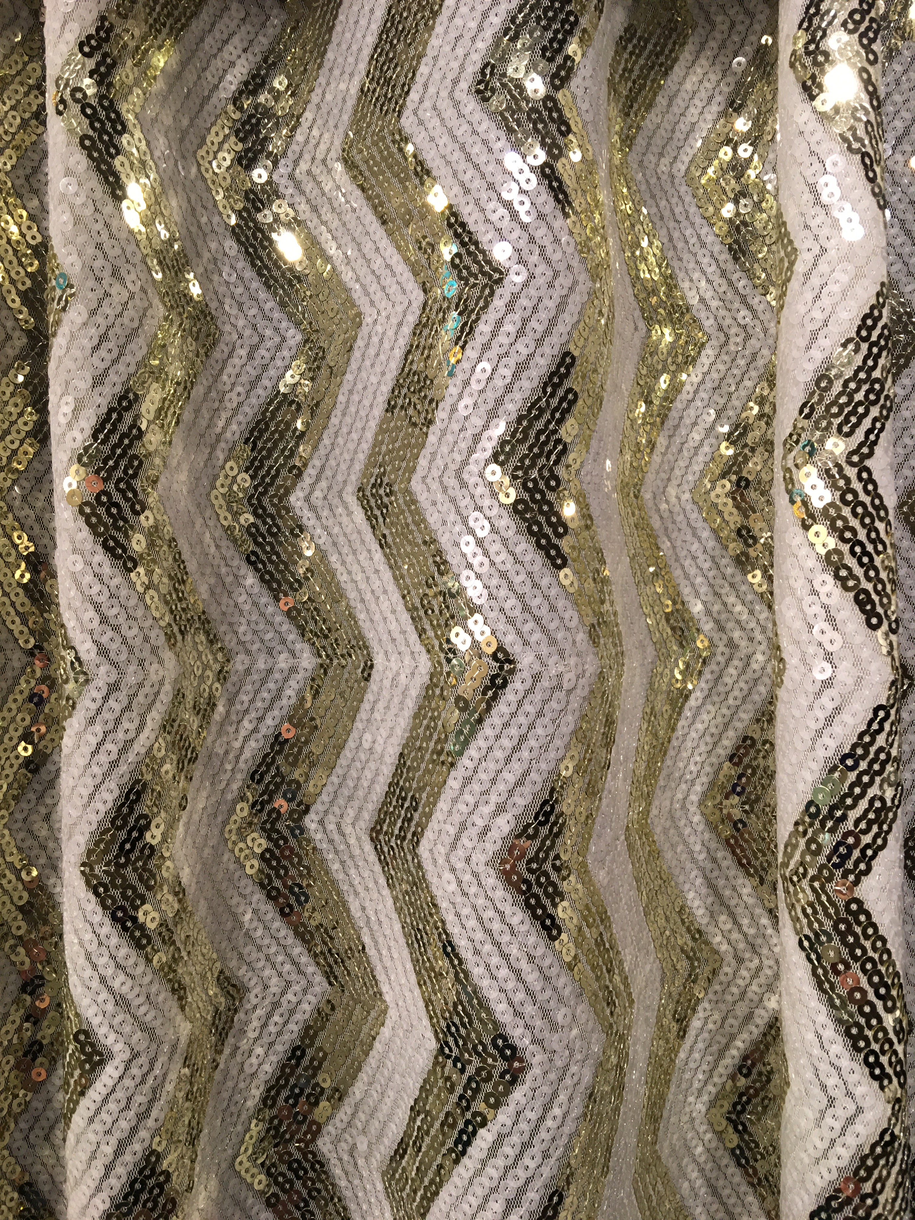 Gold and White Sequin
