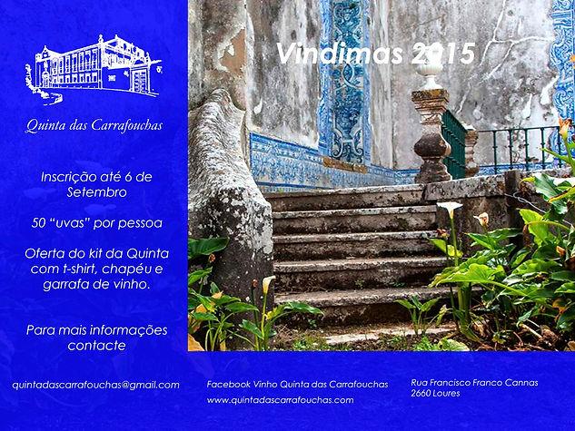 No dia 12 de Setembro a Quinta das Carrafouchas abre as suas portas a uma vindima tradicional!