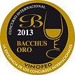 Medalha de Ouro BACCHUS 2013