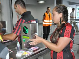 Arena da Baixada conta com acesso biométrico