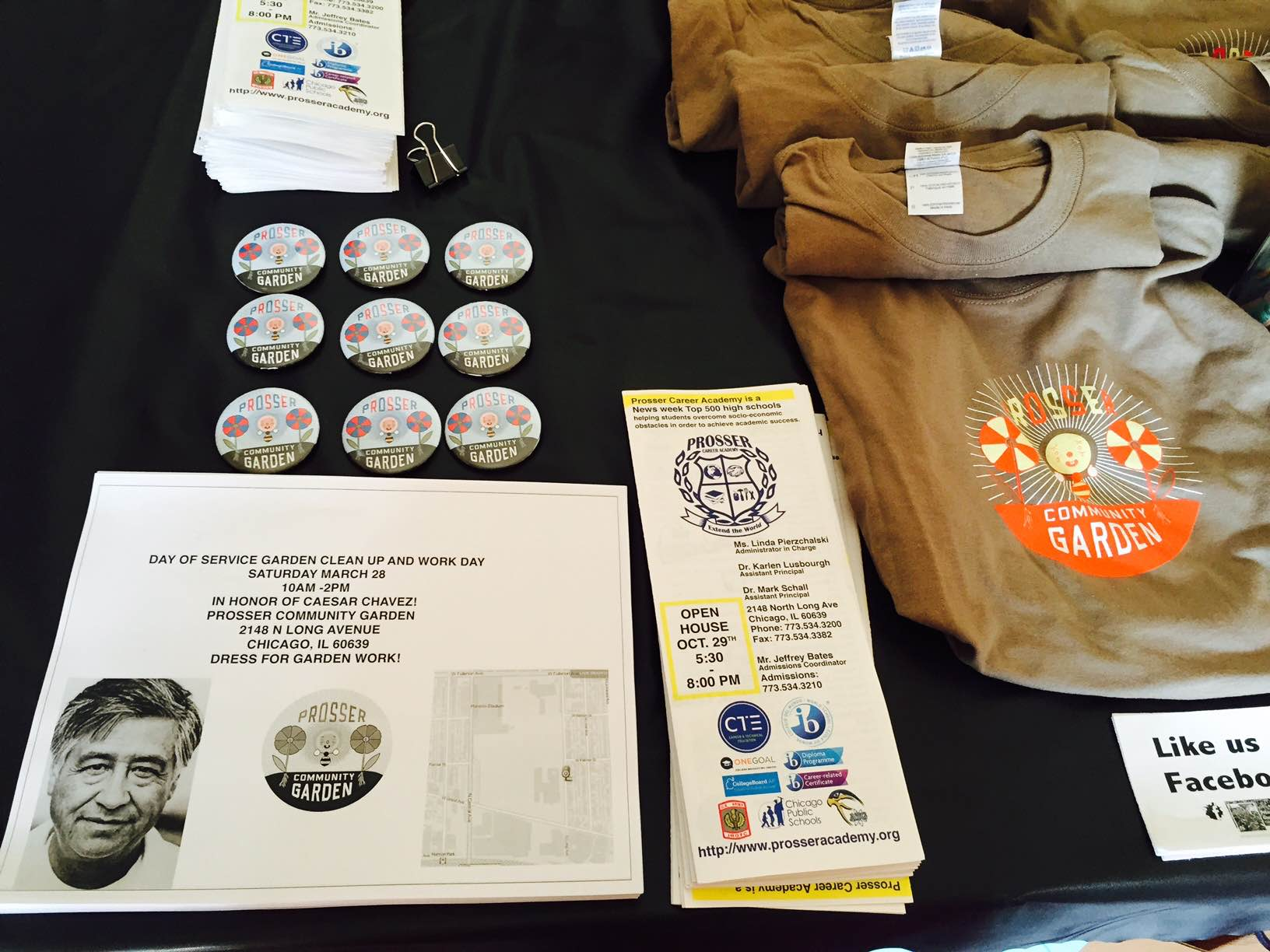 One Earth Film Festival table small