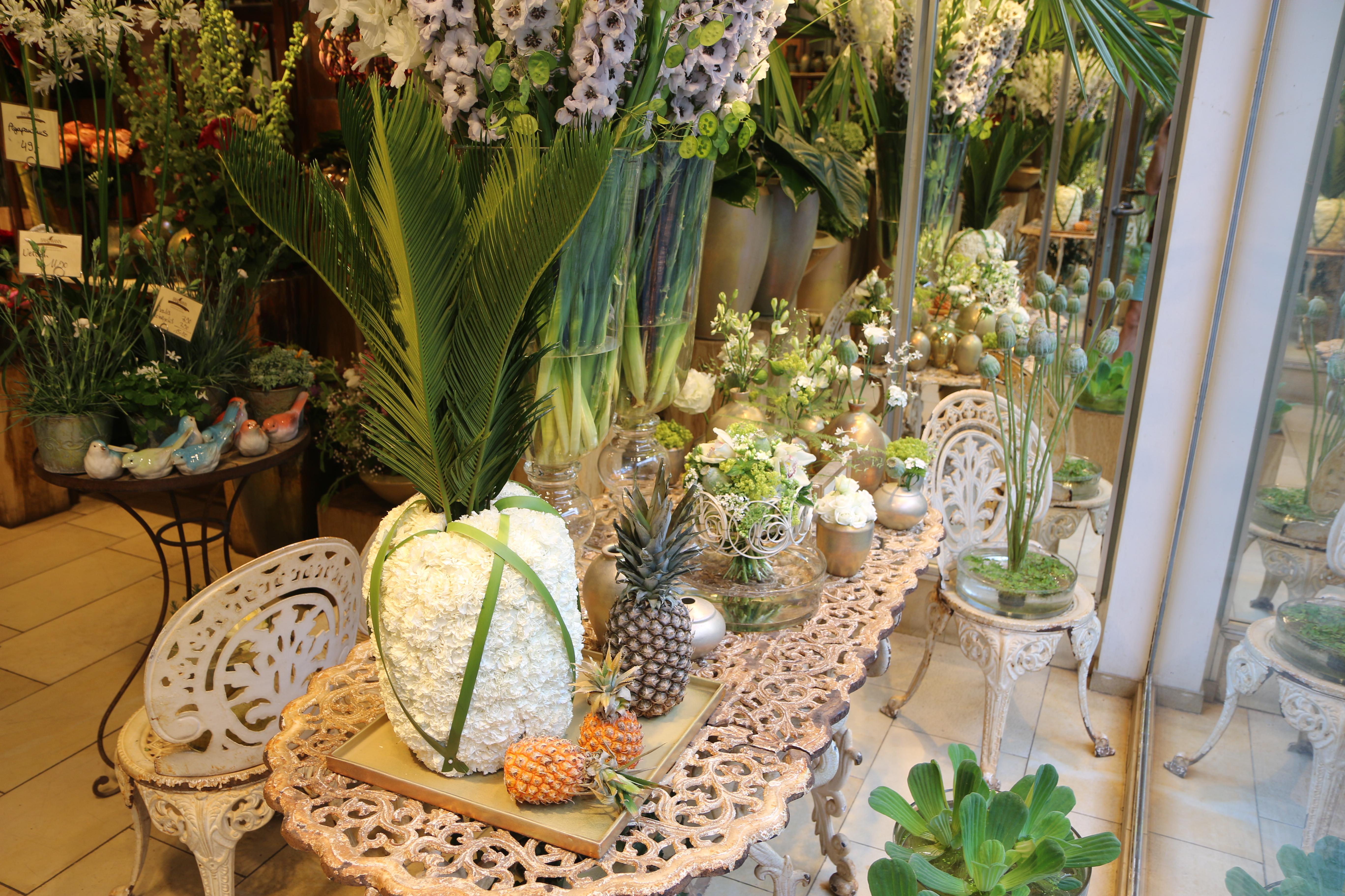 Sommer Schaufenster Ananas