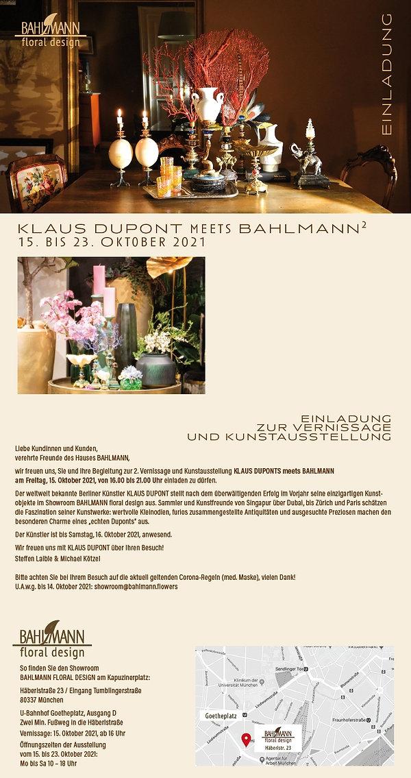 Einladung Klaus Dupont 2021