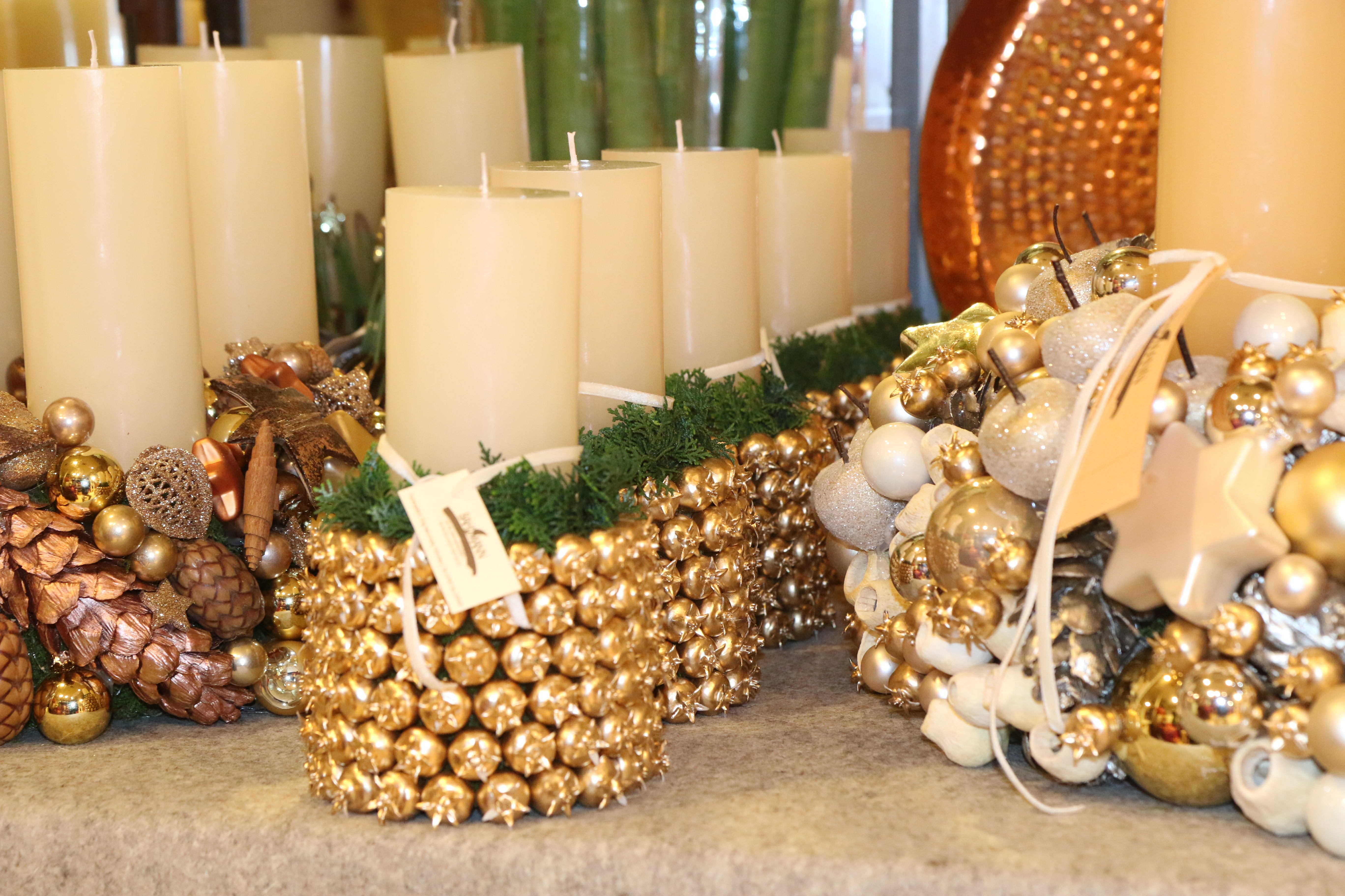 Blumen Bahlmann Advent Stimmung gold