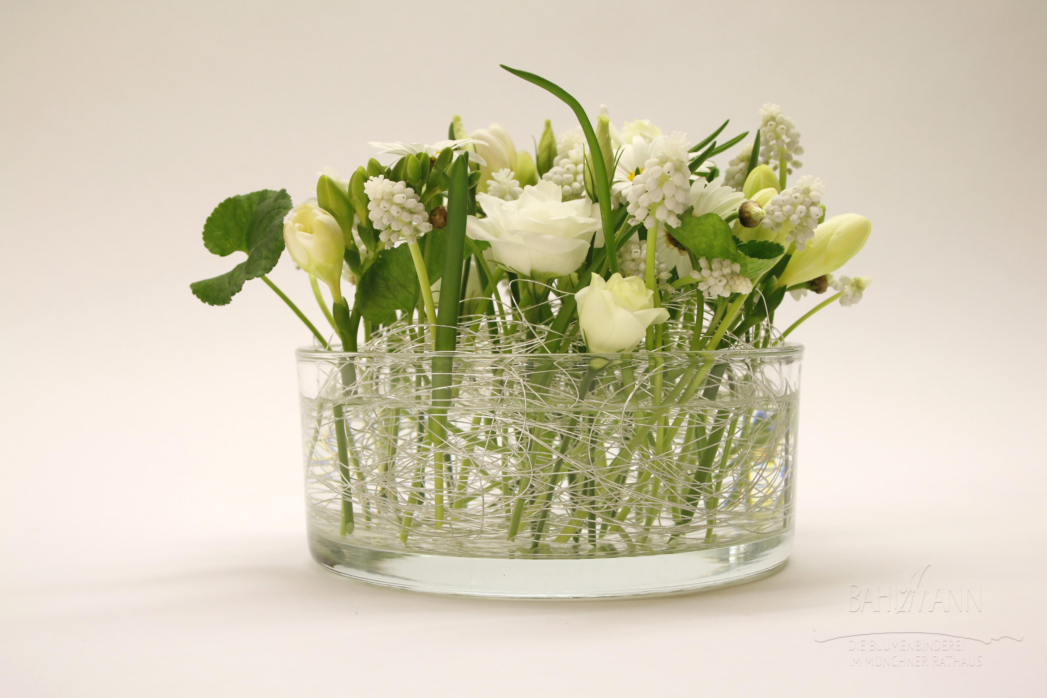 Blumen Bahlman Tisch Gesteck