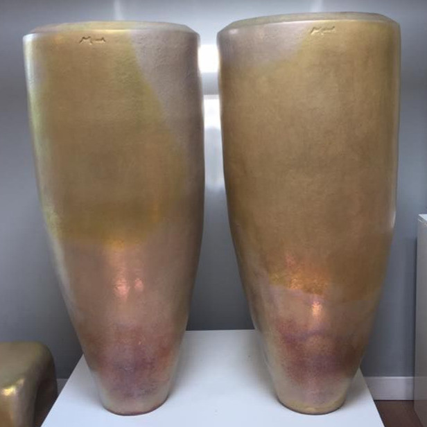Vasen schlank gold matt
