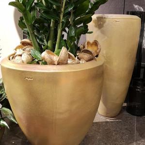 Vase gold breit