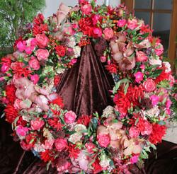 Blumen Bahlmann Trauerkranz rund herbstlich