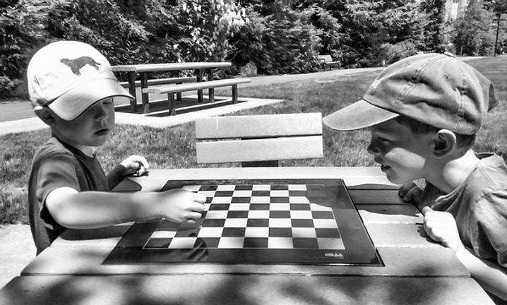 Installation of concrete checker table
