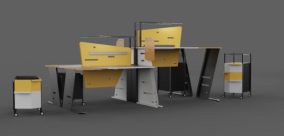 OFFICE DESK NO.2_by Yumeng Gai