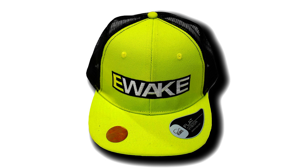 E WAKE Snap Mesh Cap | Green Fluo/Black