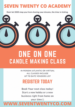 One on One Candle Making