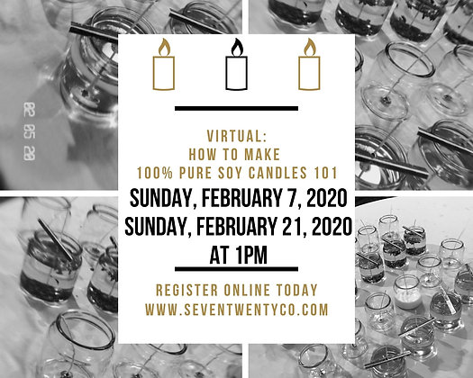 Virtual Candle Making Class