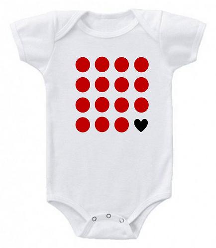 Red point baby onesie