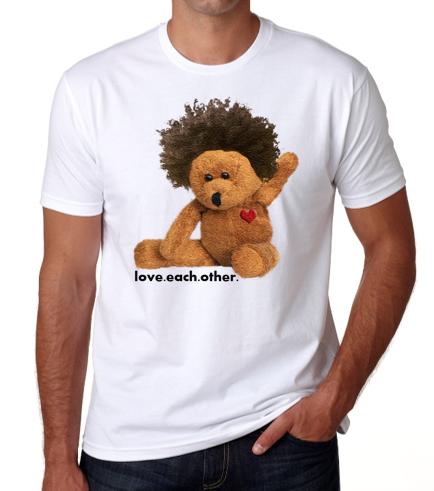 Afro teddy men's tee