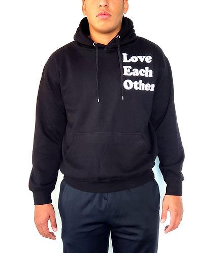 Love Each Other black hoodie