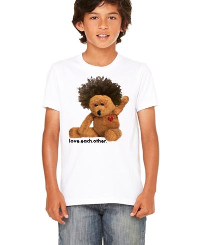 Afro teddy kids tee
