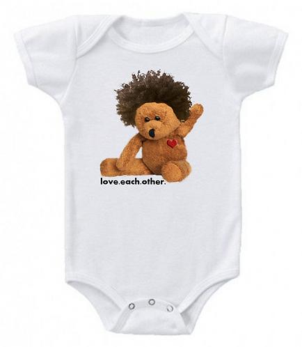 Afro teddy onesie
