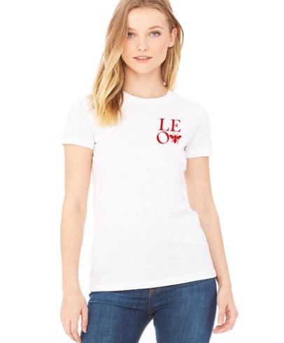 L.E.O. logo women's short sleeve tee