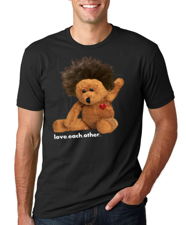 Afro teddy men's tee