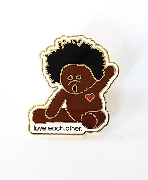 Afroteddy lapel pin