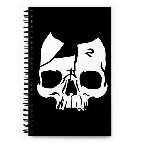 Broken Skull Spiral notebook
