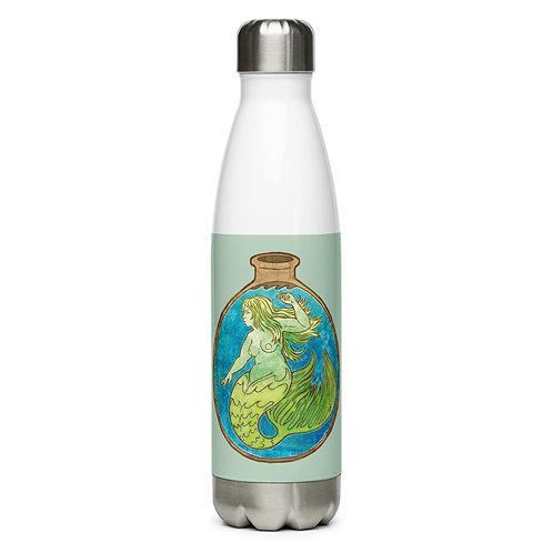 Mermaid in a Bottle Stainless Steel Water Bottle