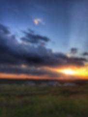 Stunning sunset at Bear Creek Reserve, Dry Branch, GA.