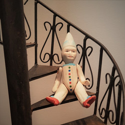 stairs and clown