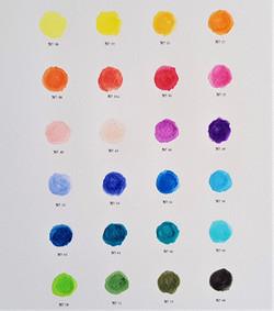 close up middle palette colour